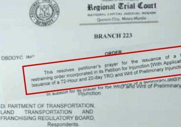 A Quezon City court grants TRO vs MC Taxi Cap